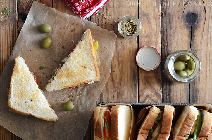Za'atar-Spiced Chicken and Bell Pepper Sandwiches with Labneh 3