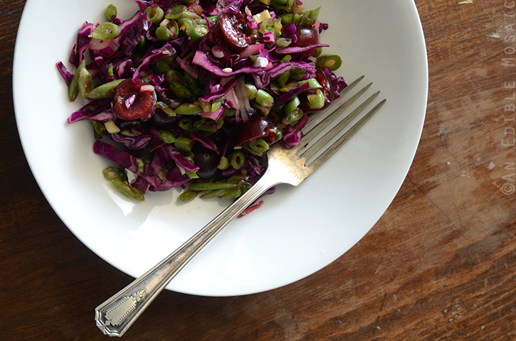 Green Bean Slaw with Cabbage, Cherries, and Lemonade Dressing 3