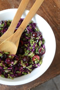 Green Bean Slaw with Cabbage, Cherries, and Lemonade Dressing {Paleo}