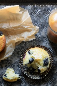 Classic Lemon-Scented Blueberry Muffins