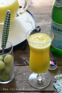 """Sparkling Citrus Pineapple Ginger """"Sangria"""" Mocktail"""