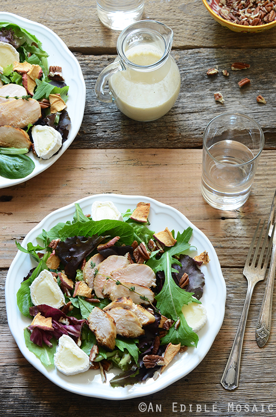 Apple, Onion, and Thyme Marinated Chicken Salad with Toasted Pecans 3