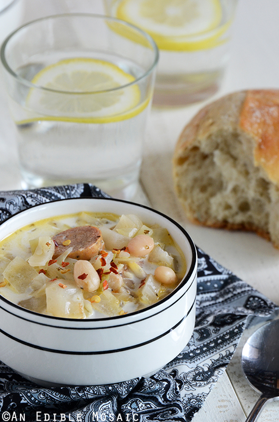 Cabbage, White Bean, and Sausage Soup 2