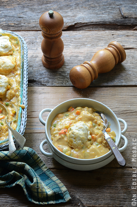 Cheesy Chicken Vegetable Cobbler 2