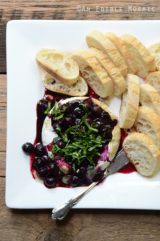 Roasted Blueberry-Basil Brie