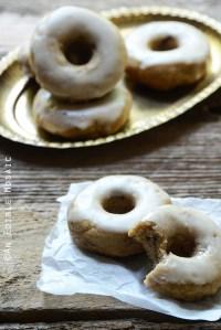 Baked Apple Cinnamon Doughnuts with Apple Cider Glaze