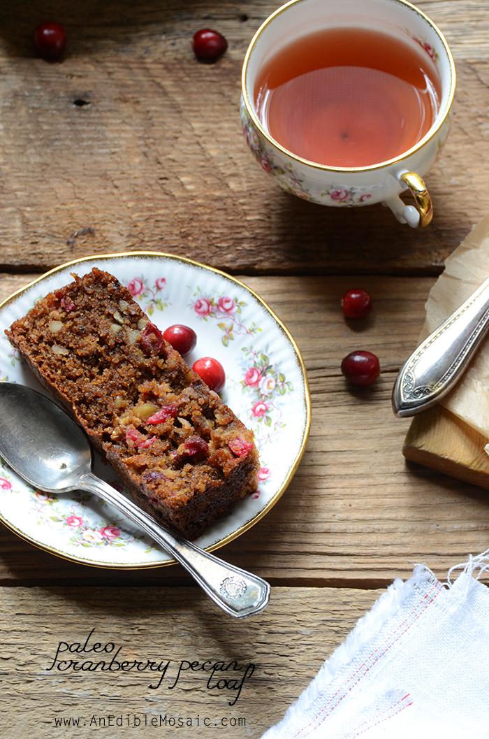 Paleo Cranberry Pecan Loaf