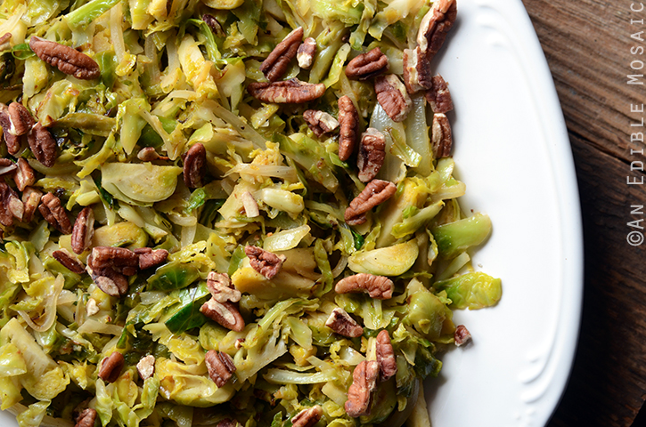 10-Minute Warm Maple-Dijon Brussels Sprout Salad with Pecans 4
