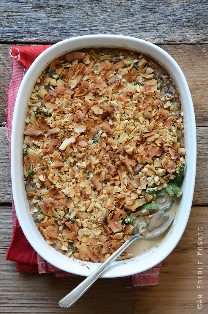 Thai-Inspired Peanut Butter Green Bean Casserole
