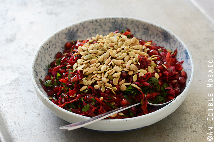 Beet and Carrot Salad with Pomegranate and Pumpkin Seeds {aka My Favorite Detox Salad} 4