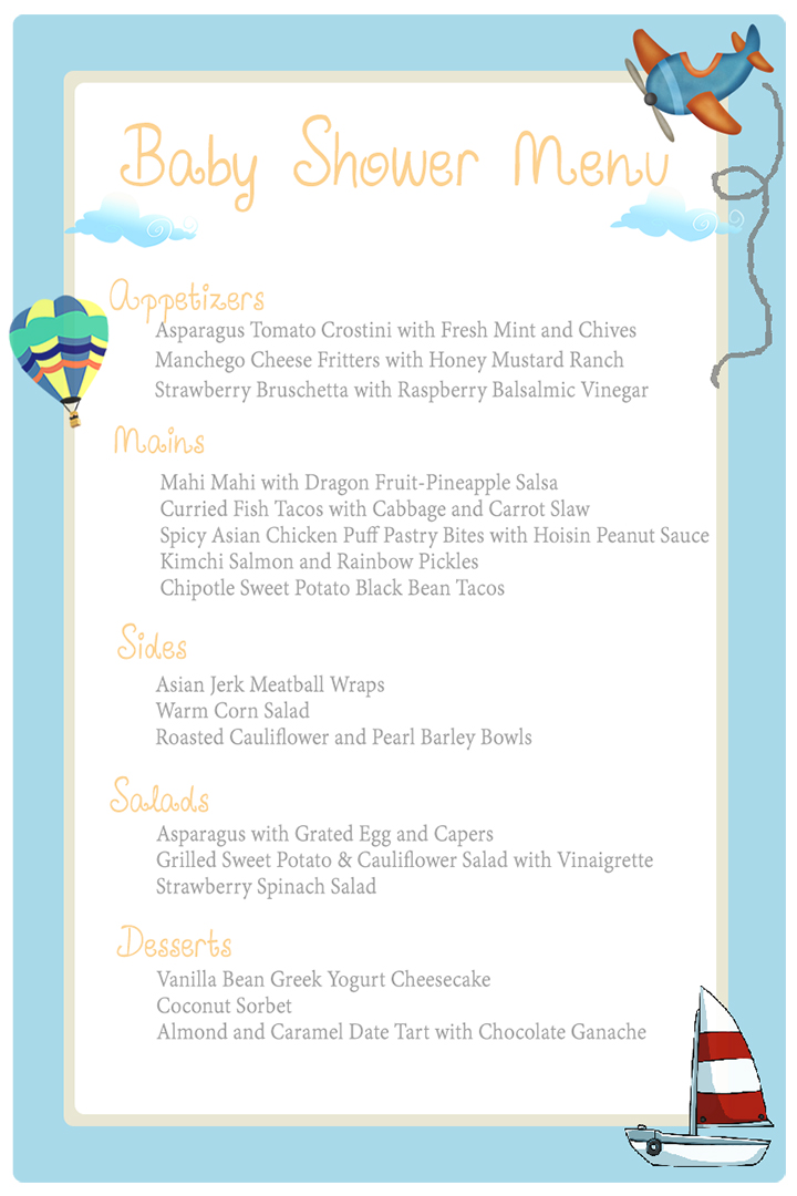 Baby Shower Menu