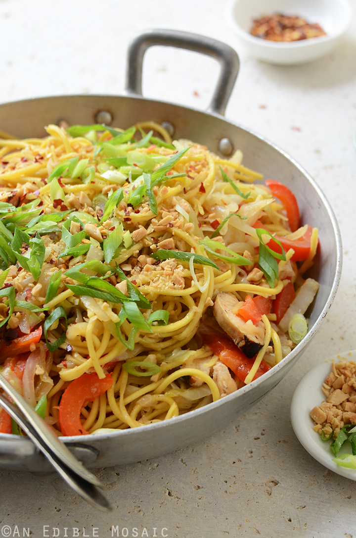 Thai-Inspired Soy Sauce Noodles with Vegetables and Chicken 2