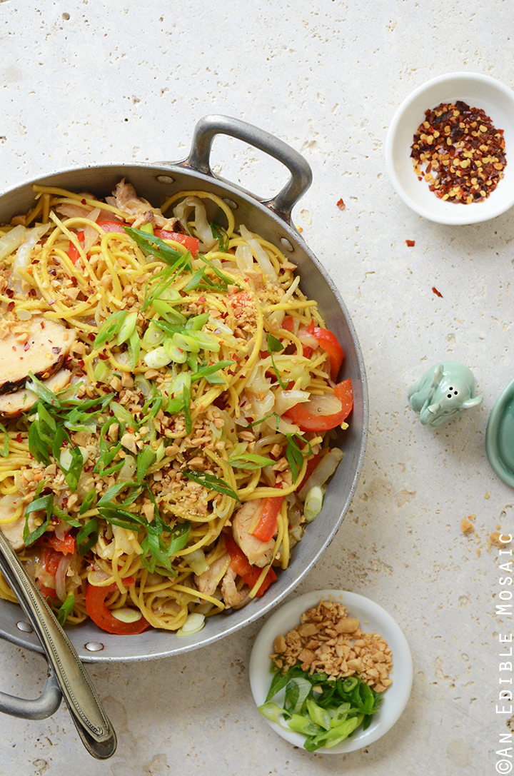 Thai-Inspired Soy Sauce Noodles with Vegetables and Chicken 3