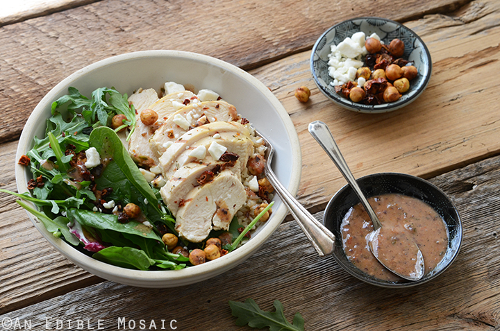 Herbed Chicken and Brown Rice Sun-Washed Mediterranean Salad Bowls 5