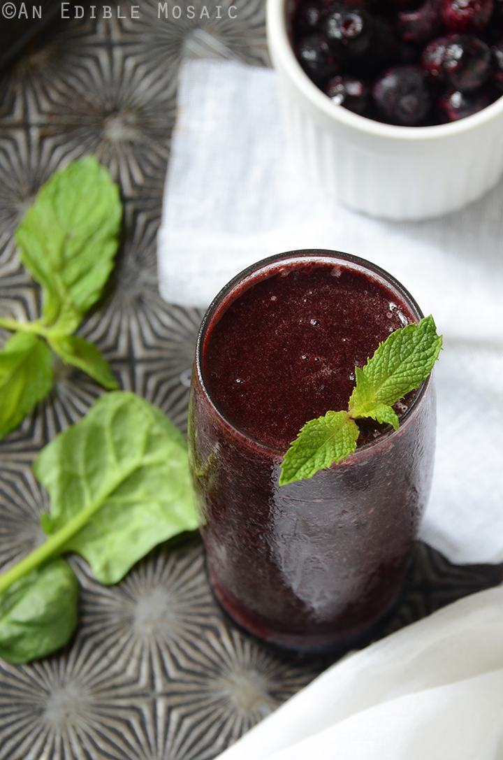 Minted Blueberry Balsamic Smoothie 1