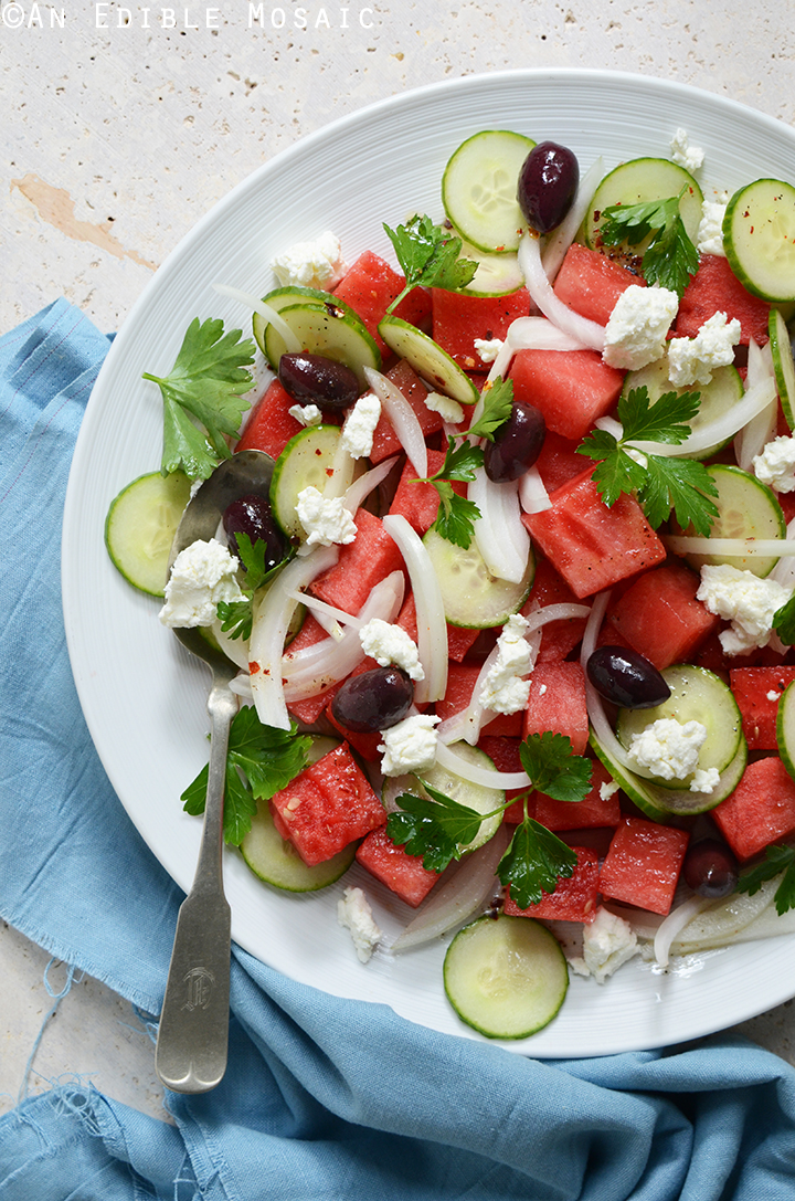 Watermelon Salad with Sweet and Spicy Vinaigrette 1
