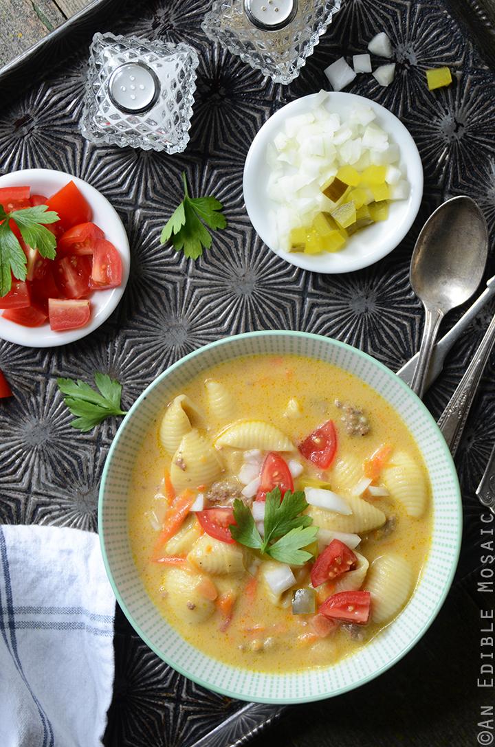 Macaroni and Cheeseburger Vegetable Soup 4