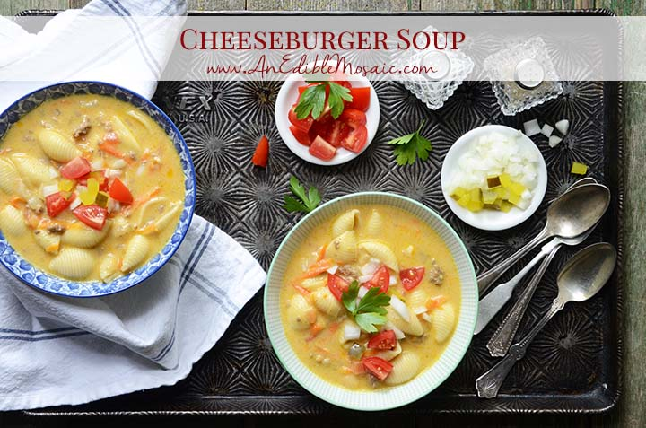 Cheeseburger Soup with Description