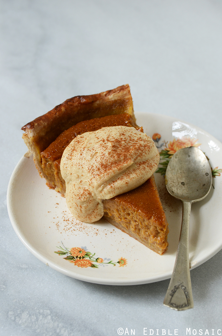 Maple Peanut Butter Pumpkin Pie with Maple Peanut Butter Whipped Cream 2