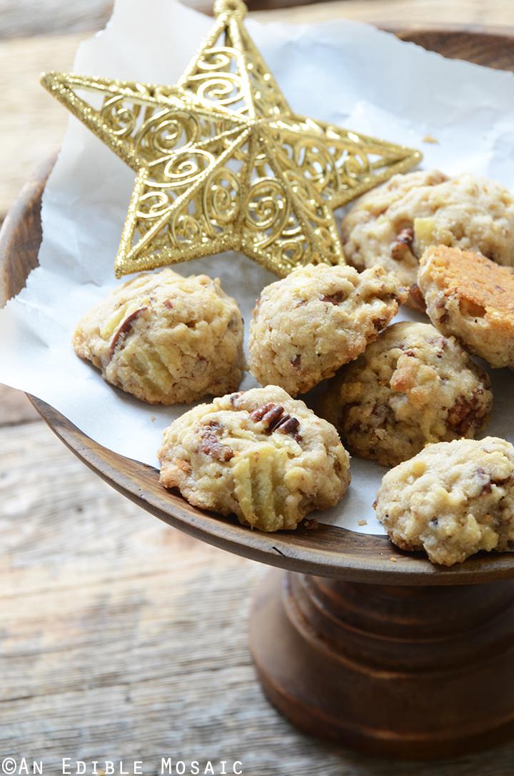 Maple Pecan Potato Chip Shortbread Cookies 1