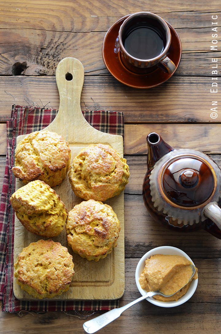 Spiced Pumpkin Scones with Cinnamon Pumpkin Cream