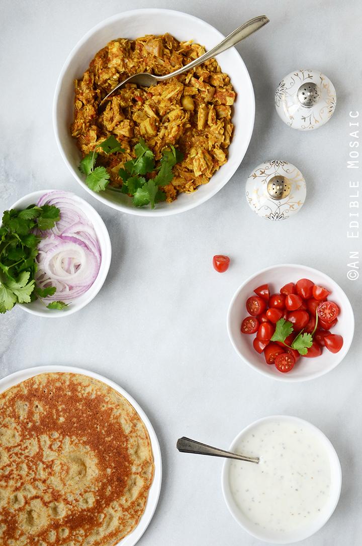 Easy Turkey or Chicken Masala Wraps 1