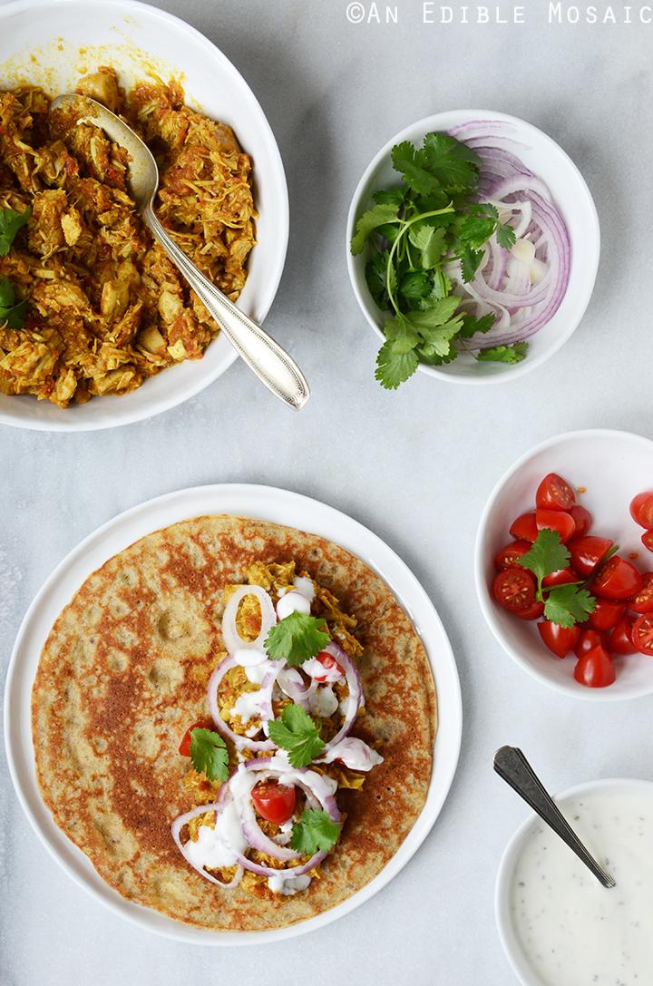 Easy Turkey or Chicken Masala Wraps 3