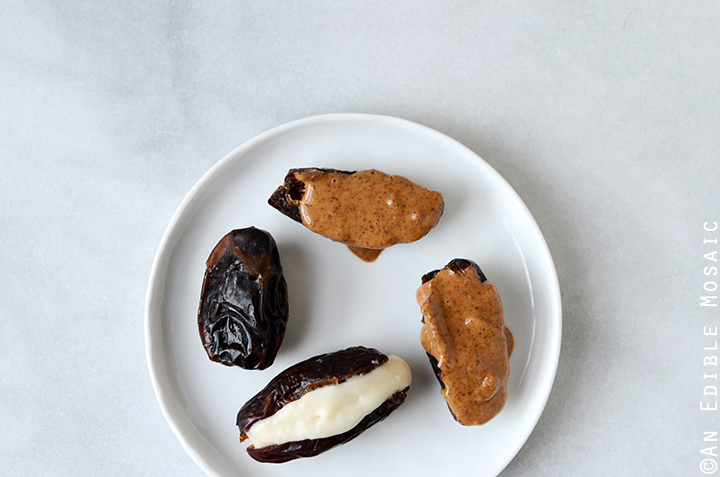 Medjool Dates Stuffed with Coconut Butter and Almond Butter