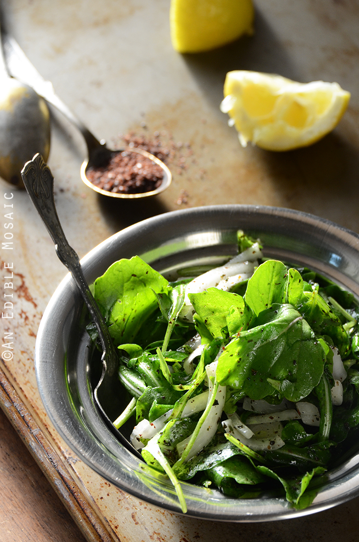 Tangy Arugala Salad with Sumac (Salatat Jarjeer)