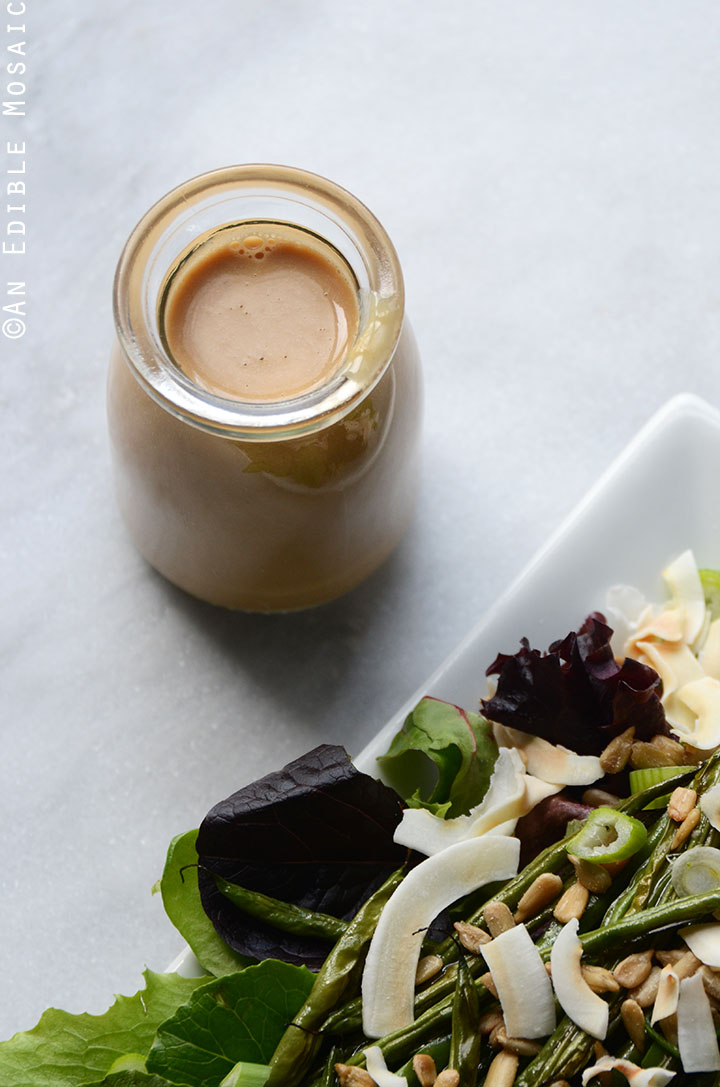 Spring Mix and Roasted Green Bean Salad with Creamy Maple-Miso Dressing 2