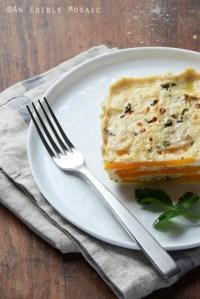Cheesy Layered Butternut Squash Casserole {Gluten-Free; Lactose-Free}