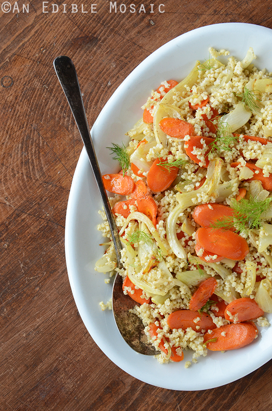 Millet Pilaf with Roasted Carrot and Fennel Recipe