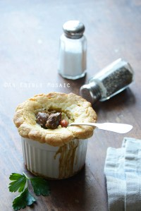 Steak, Ale, and Mushroom Pot Pies {Paleo}