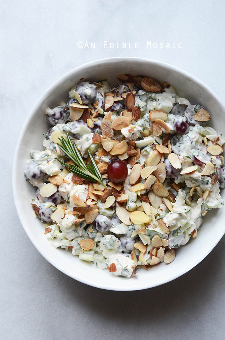 Creamy Rosemary and Red Grape Chicken Salad {Paleo; Whole30-Friendly} 2