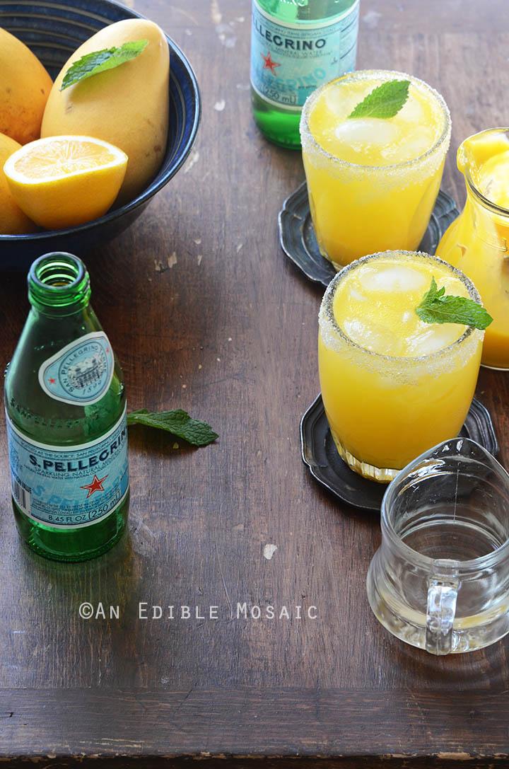 Mango Meyer Lemon Margarita Mocktails 3