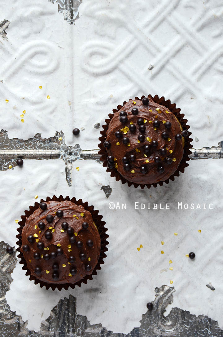 Yellow Cake Cupcakes with Fudgy Chocolate Buttercream for Two 3
