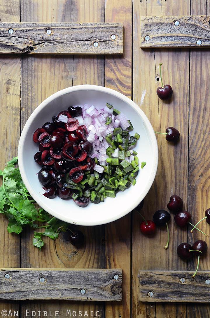 Fresh Cherry and Charred Poblano Chopped Salad 1
