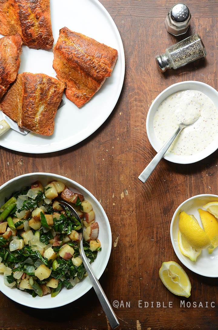 Seared Salmon and Lemon Aioli 2
