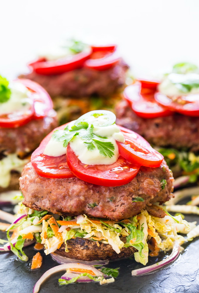 Spicy Jalapeno Turkey Burgers with Creamy Slaw