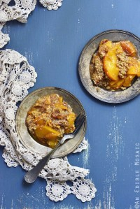 Spiced Maple Peach Oat Crisp