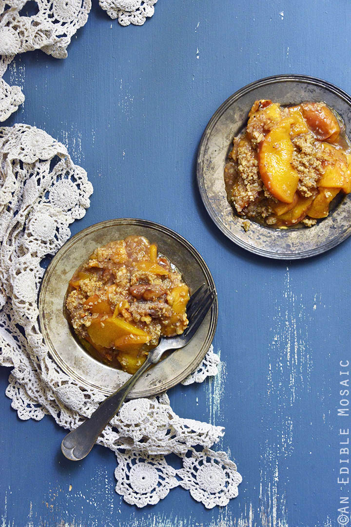 Spiced Maple Peach Oat Crisp 1