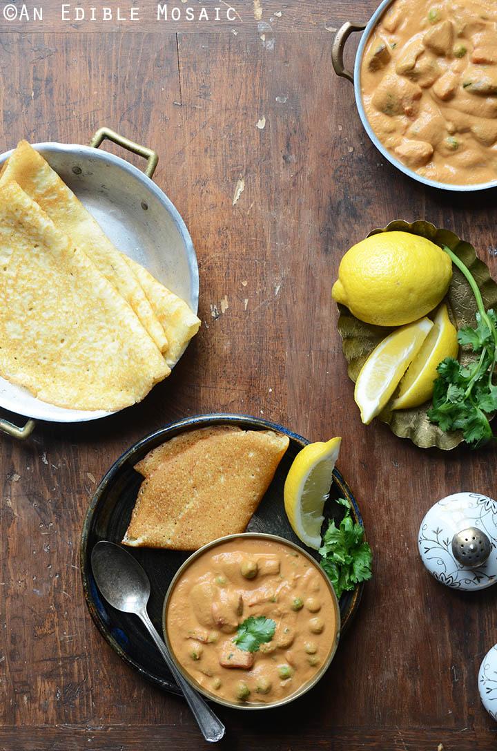 Creamy Cashew Mushroom and Green Pea Masala {Vegan} 3