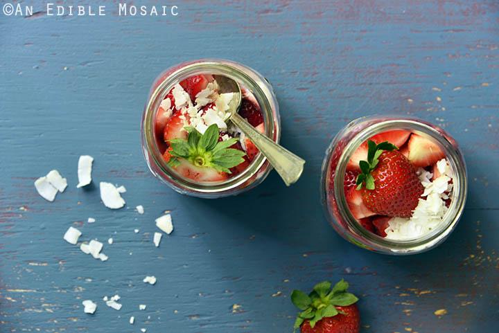 Strawberry and Coconut Cream Overnight Oatmeal Parfaits 5