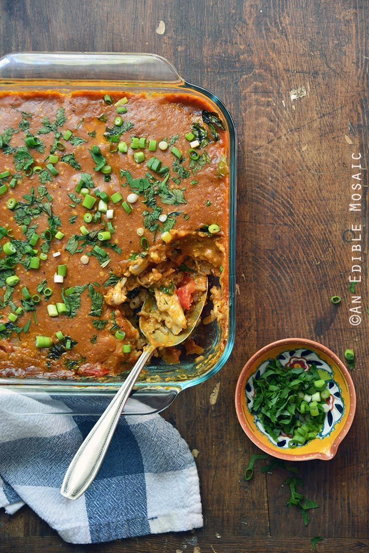 BBQ Pepper Jack Chicken and Brown Rice Casserole 2