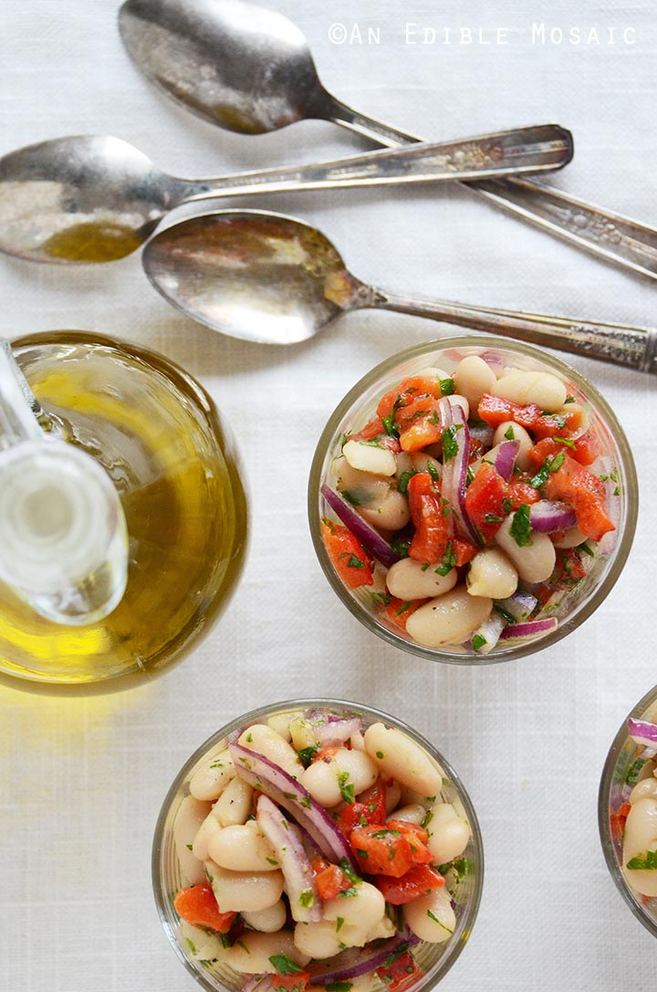 White Bean-Roasted Red Pepper Salad