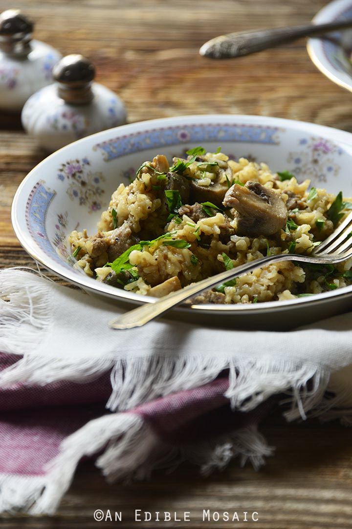 one-pot-brown-rice-pilaf-with-chicken-sausage-mushrooms-and-rosemary-gluten-free-2