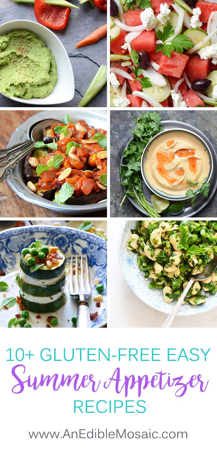 Collage of 10+ Gluten-Free Easy Summer Appetizer Recipes
