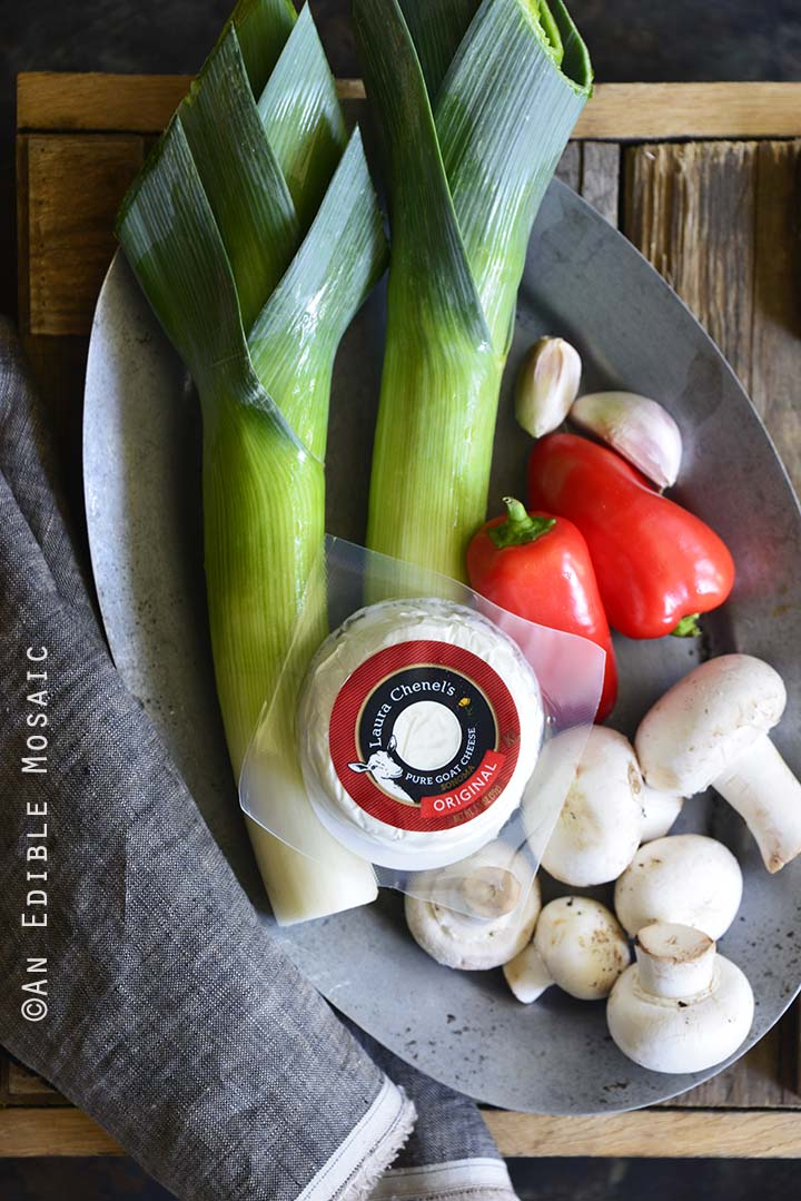 Vegetables and Goat Cheese for Pasta Salad