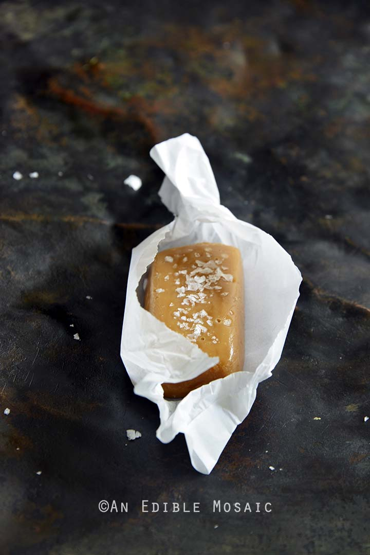 Soft and Chewy Peanut Butter Salted Caramels with Peanut Butter & Co.® Front View