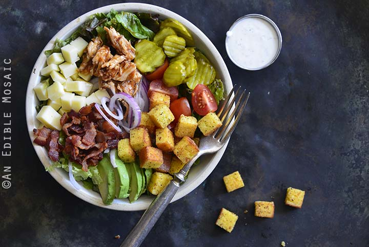 Keto BBQ Chicken Salad Bowls Close Up